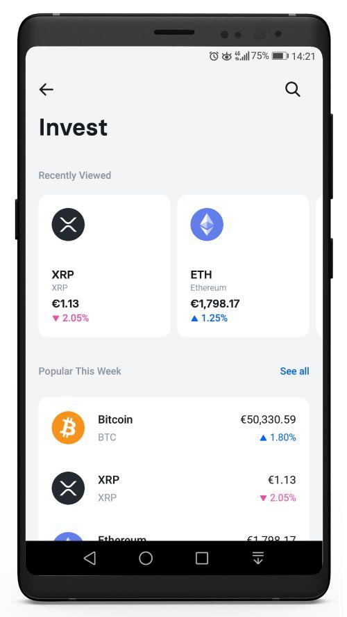 Cryptocurrencies on Revolut