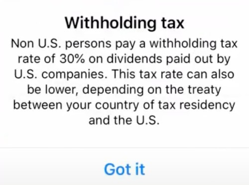Withholding tax on Revolut.